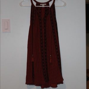 Red Patterned Tank Dress